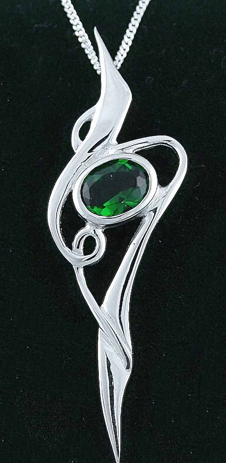 14k white gold solid silver emerald celtic pendant necklace 14k white gold solid silver emerald celtic pendant necklace necklaces celtic jewellery aloadofball Choice Image
