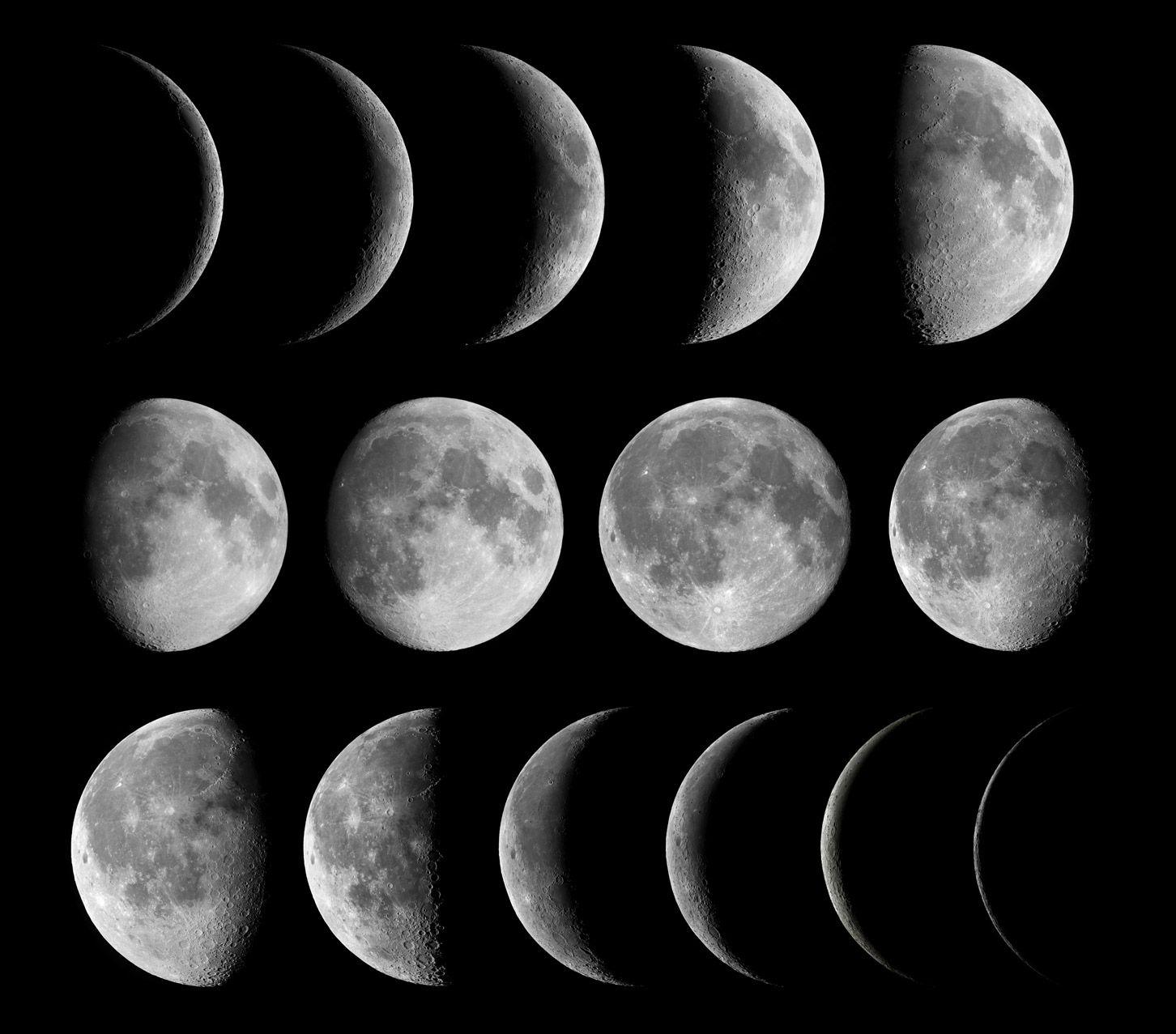 la lune tourne