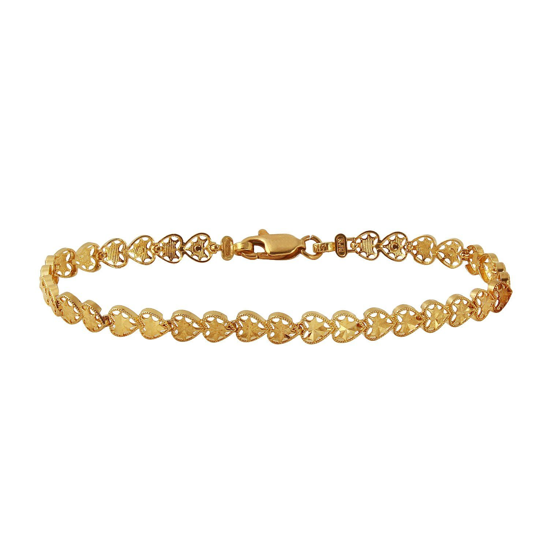 Ladies k yellow gold bracelet bracelets gold and closure