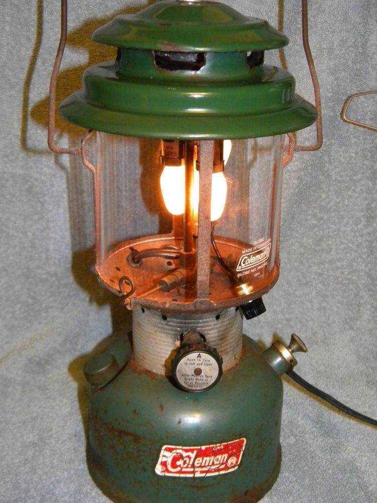 Vintage Coleman Lantern Electric Night Light Steampunk