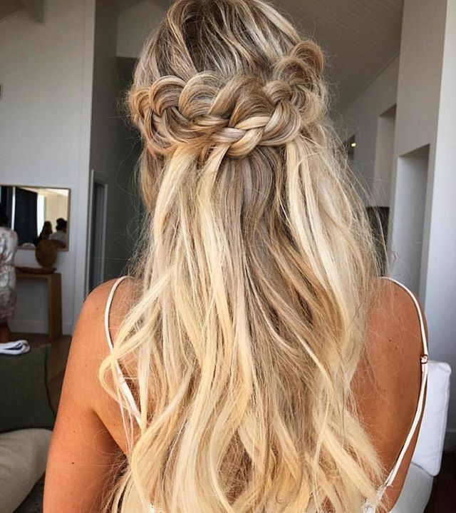 33 Half Up Half Down Wedding Hairstyles To Try Koees Blog: Braid Half Up Half Down Hairstyle