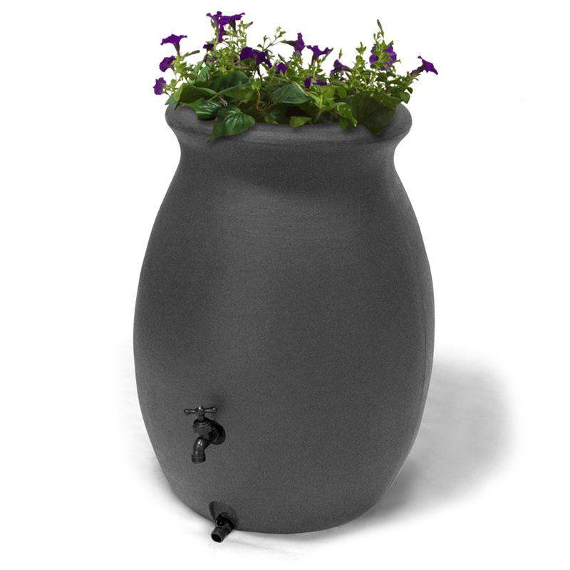 Algreen Castilla 50 Gallon Rain Barrel Charcoalstone - 81303