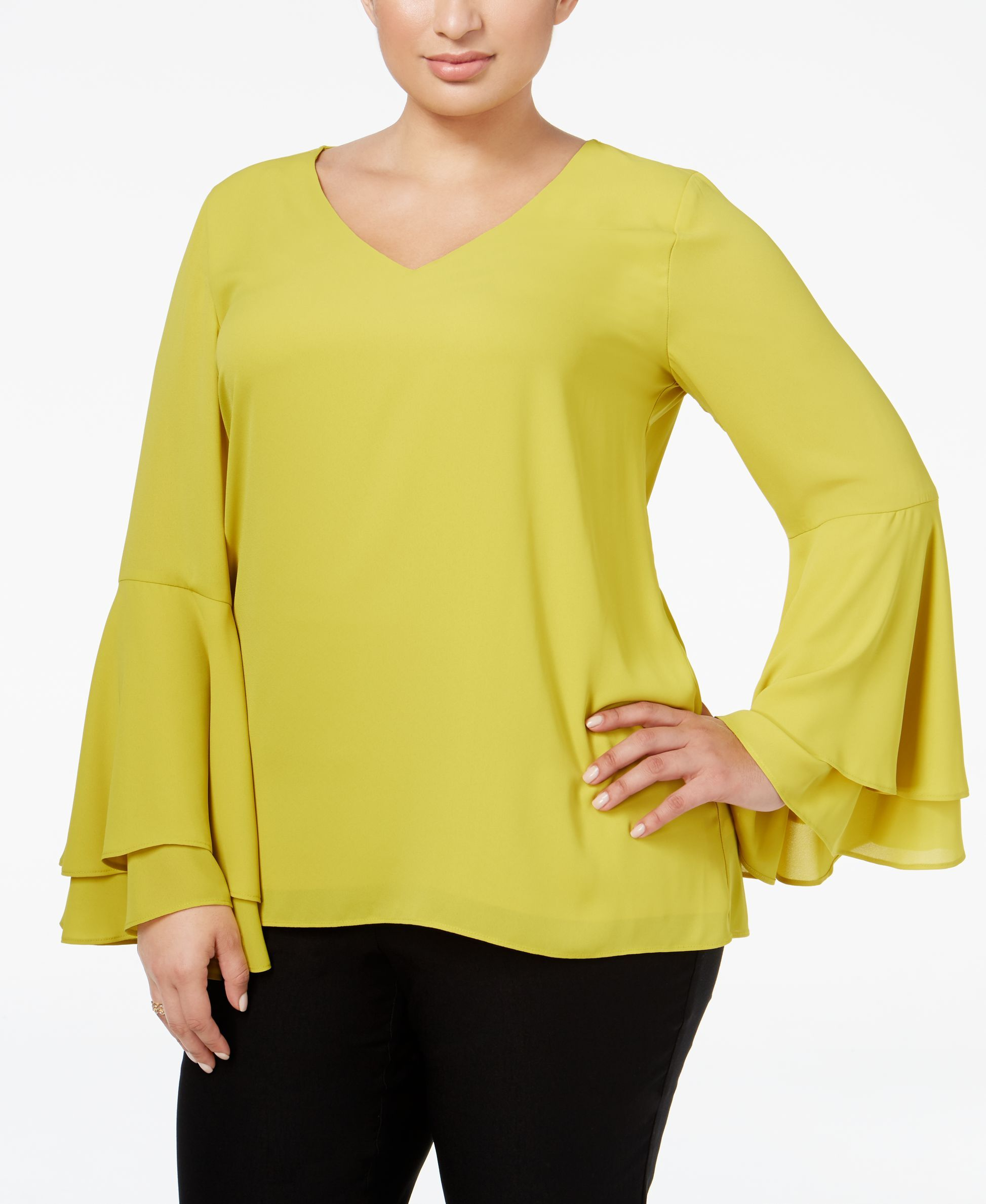 Alfani Plus Size Bell Sleeve Blouse Only At Macy S Fashionable