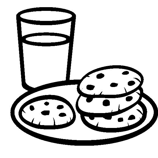 Chocolate Chip Cookies And Fresh Drinks Coloring Pages Coloring
