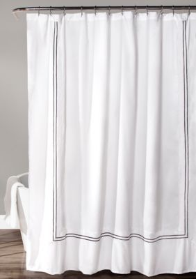 Lush Decor Hotel Collection Shower Curtain White Gray White 72