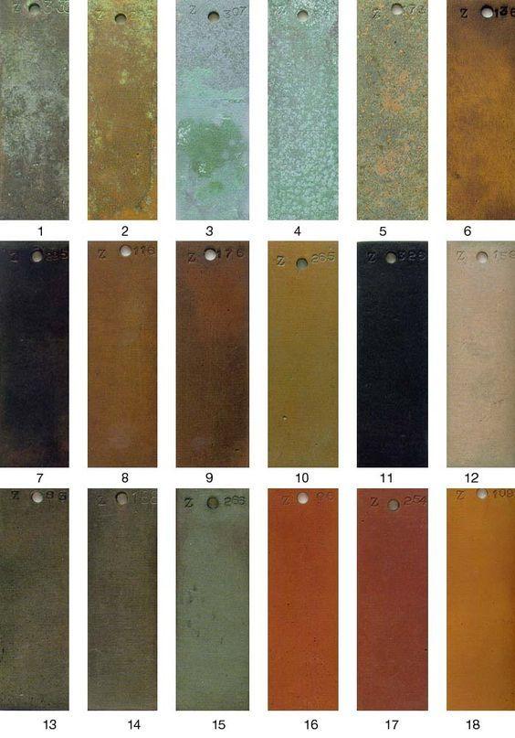 Bronze Patina Color Chart Patina Finishes Bronze Patina Bronze Color Palette Patina Metal