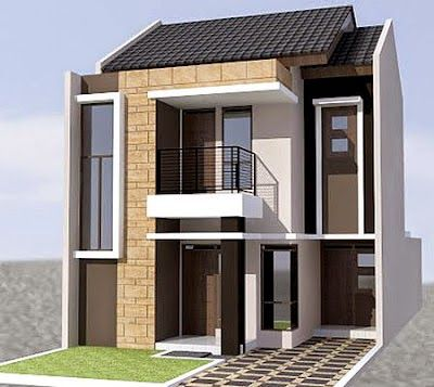 Rumah Minimalis Type 45 2 Lantai Domy Design Pinterest Exterior