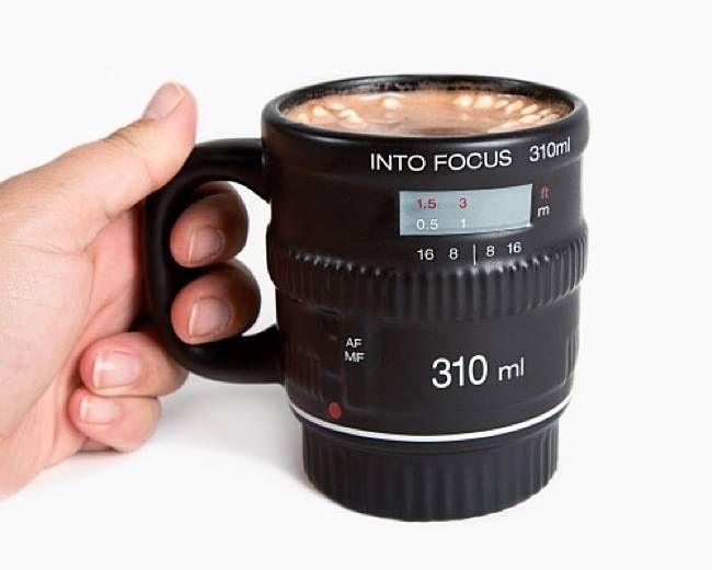 Into Focus Camera Lens Mug, $12.96
