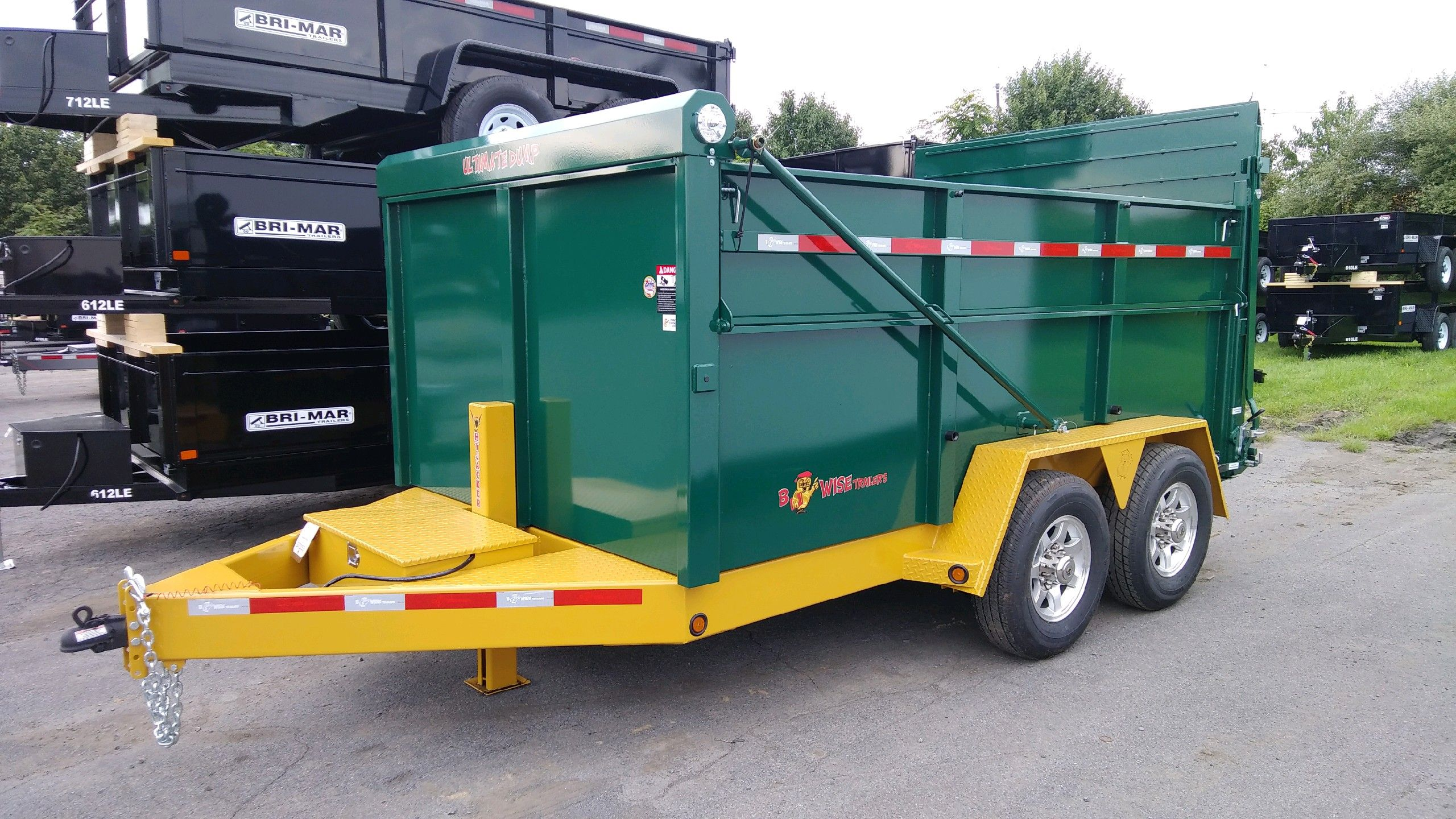 The Bwise Ultimate Dump Trailer Nobody Else Builds It Dump Trailers Heavy Equipment Trailer