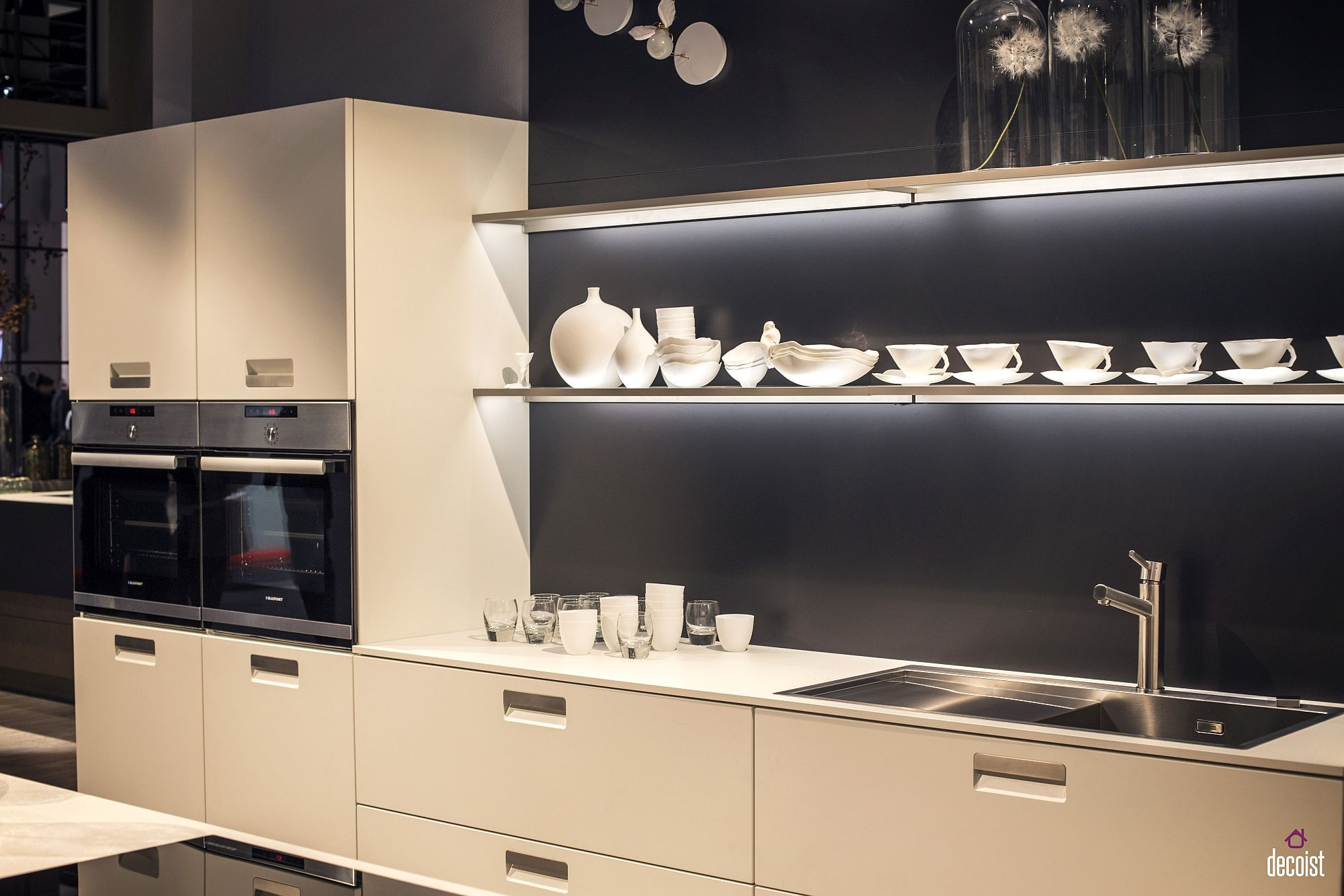 Decorating With Led Strip Lights Kitchens With Energy Efficient Radiance Modern Kitchen Shelves Modern Kitchen Open Kitchen Shelf Design