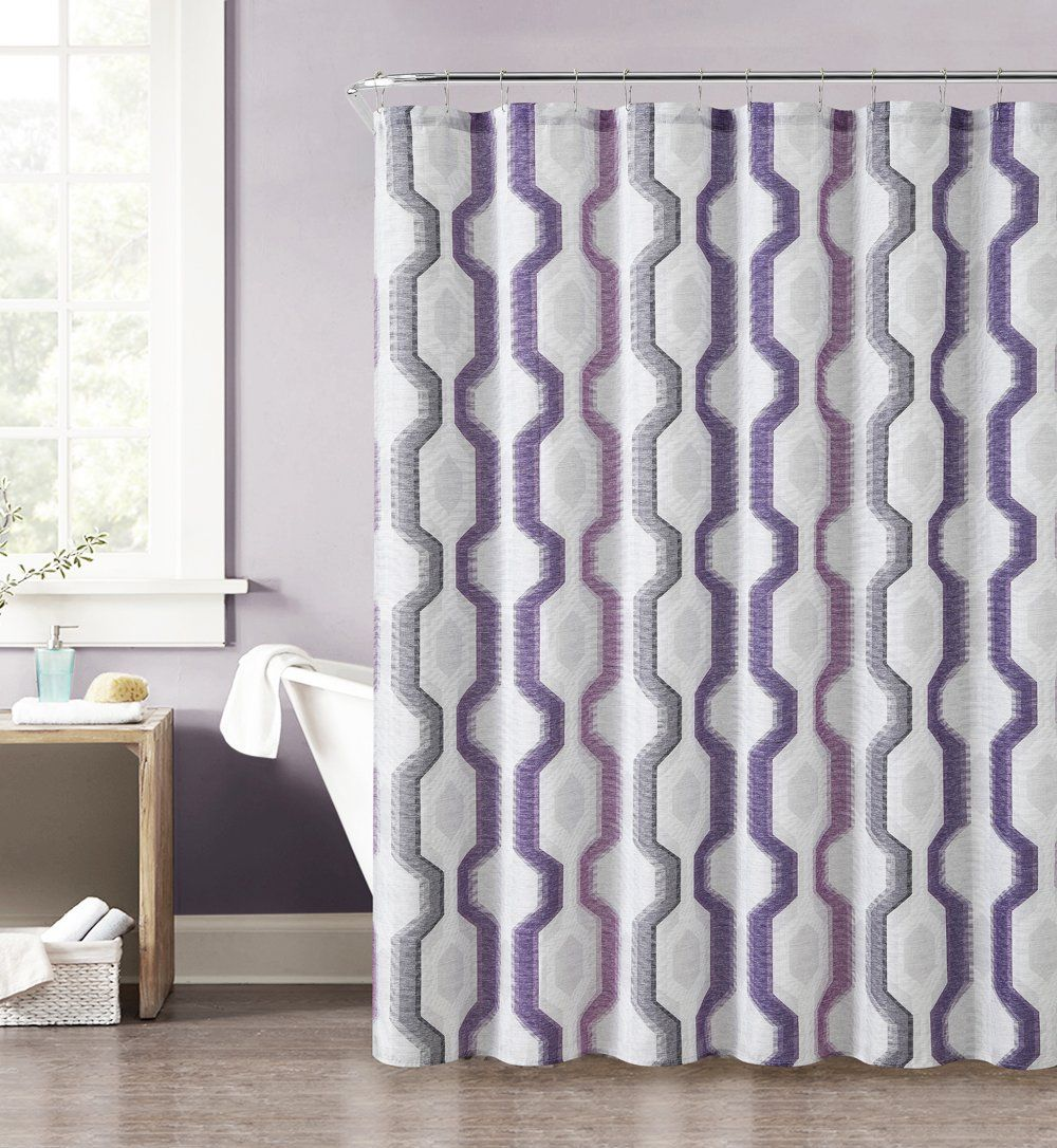 Purple And Gray Shower Curtain And Rugs Home Designs And Style