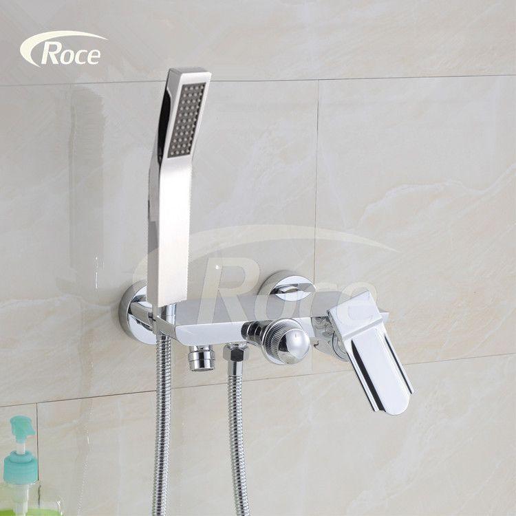 Hot And Cold Shower Faucet Triple Bathtub Faucet Copper Bath Shower Shower Set Pressurized Water Mixing Valve Shower Bath Bathtub Faucet Copper Bath