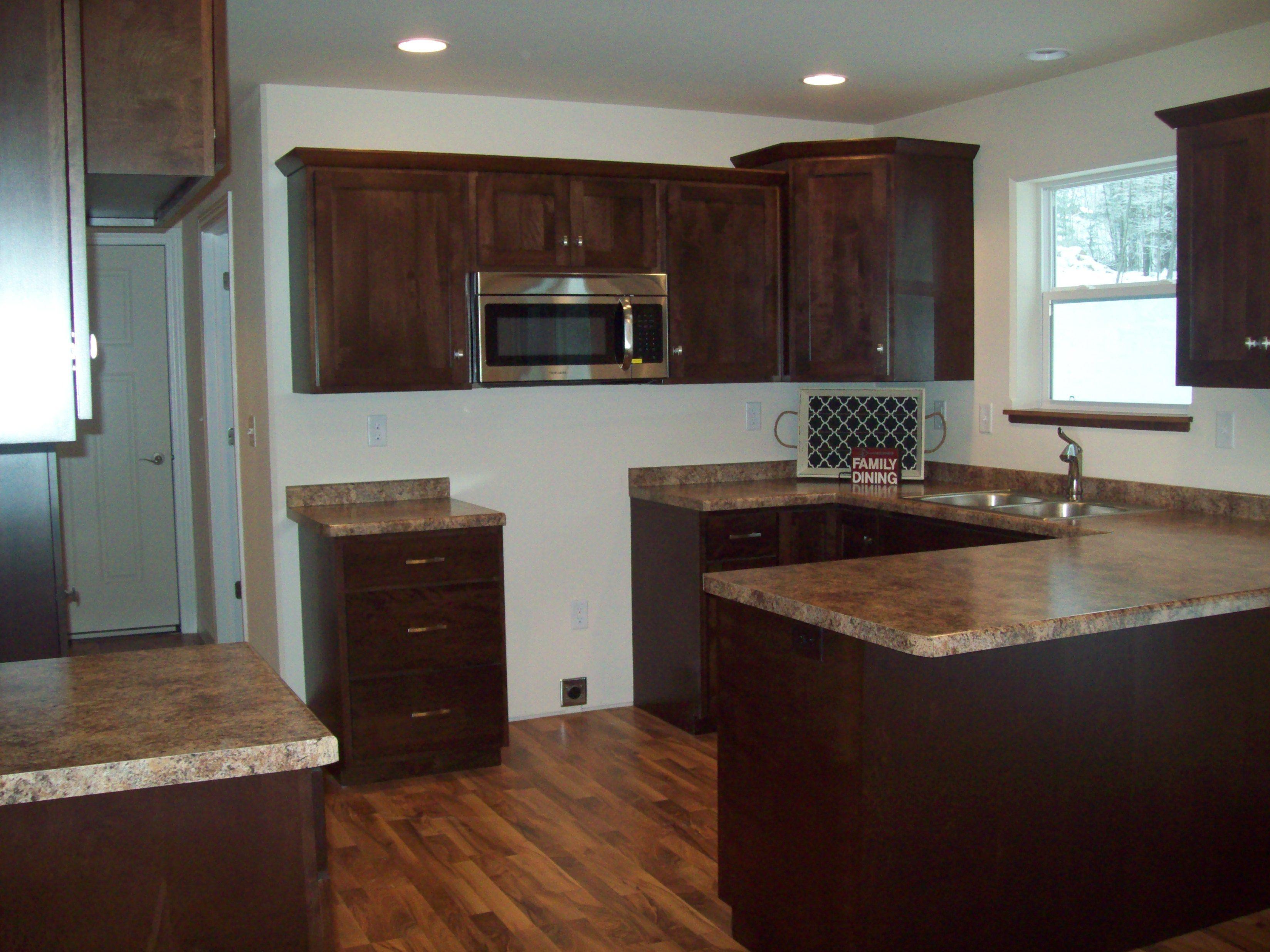Formica Butterum Granite countertops. Custom maple ... on Maple Cabinets With Granite Countertops  id=59905
