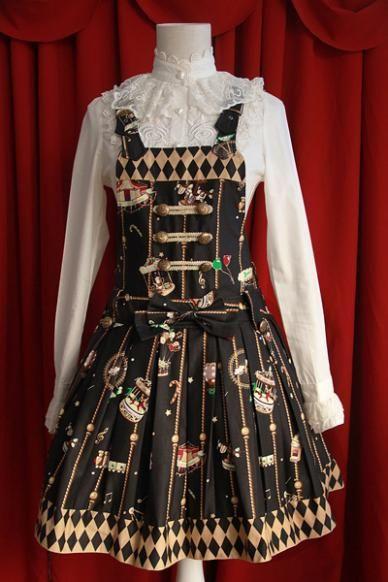 Infanta Gold Theme Park Pinafore Dress
