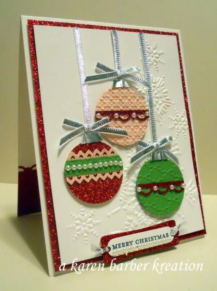 Christmas Cas Style By Karen B Barber Cards And Paper Crafts At