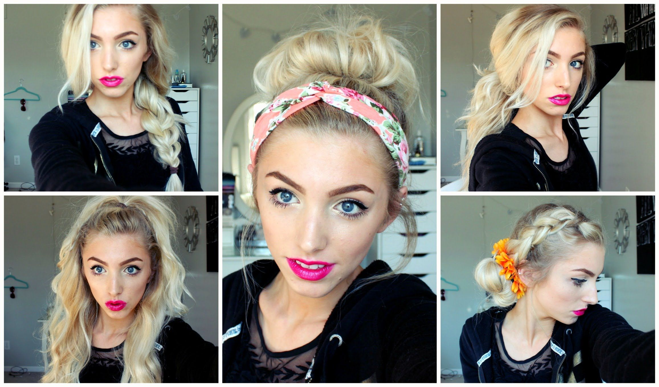 Summer Hairstyles Simple 3 Easy Summer Hairstyles  Fashion  Pinterest  Summer And Fashion