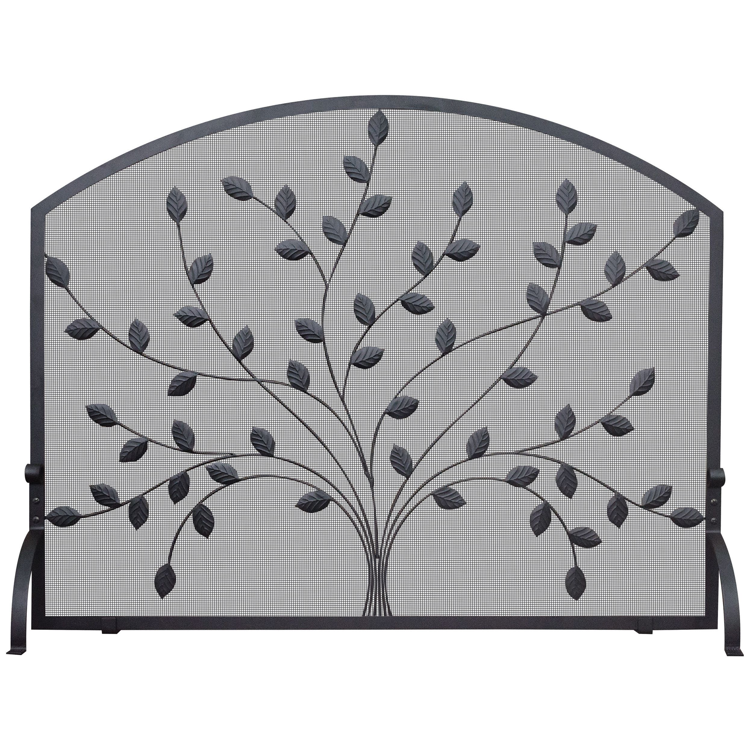 ironbronze vintage used fenders screens fireplace antique screen cast and curved collection chairish