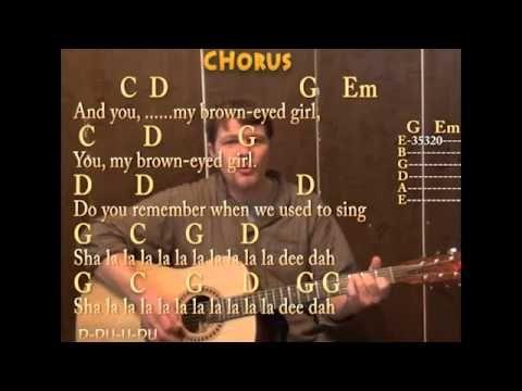 ▷ Brown Eyed Girl (Van Morrison) Guitar Cover Lesson Strum Chords ...