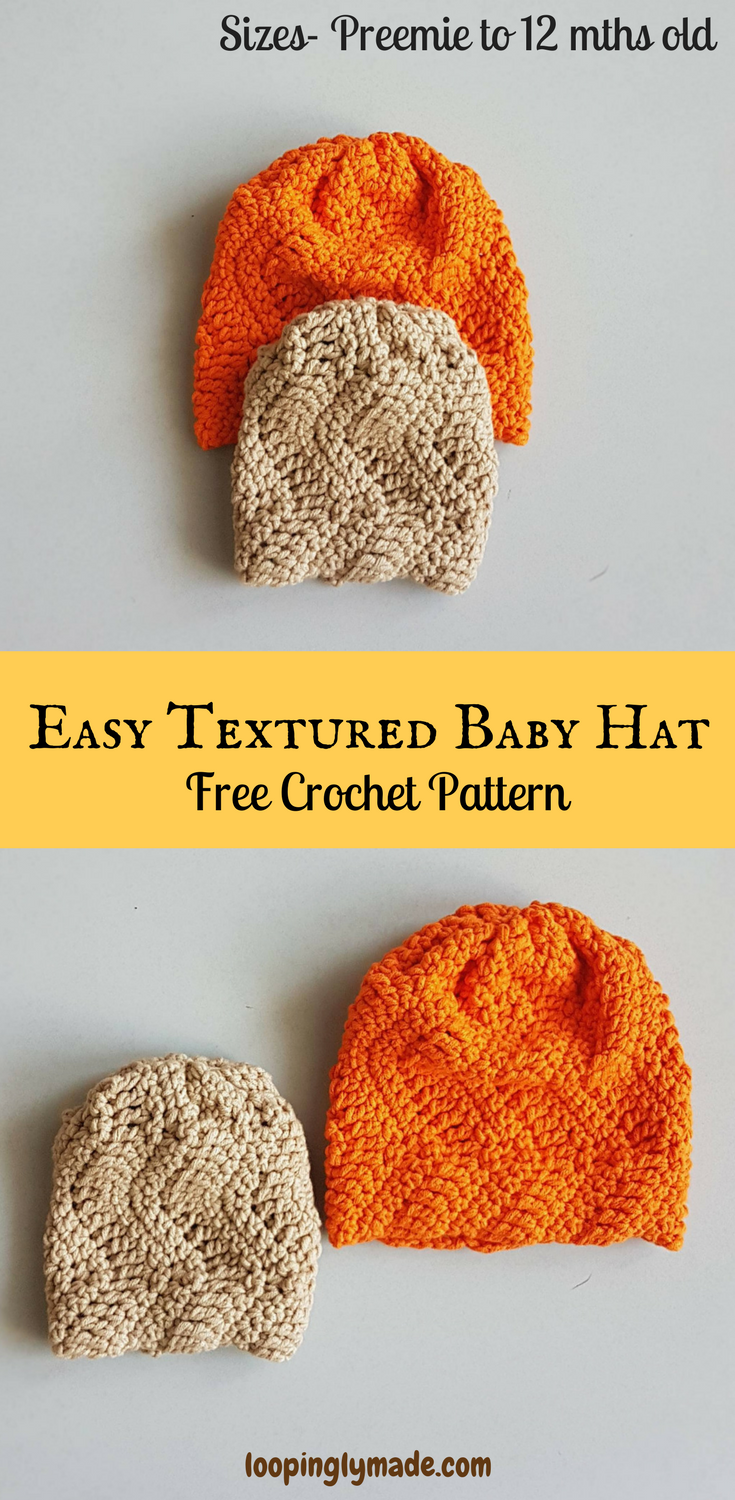 3ad477aec Easy Textured Baby Hat- Free Beginner Crochet Pattern | Moogly ...