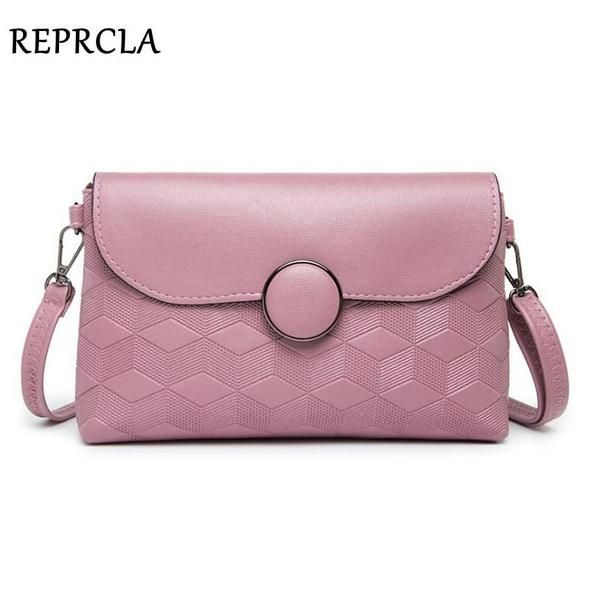 REPRCLA Brand Designer Shoulder Bags Round Buckle Women Messenger Bags PU  Leather Fashion Crossbody Bags Handbags Day Clutches ee9834265b
