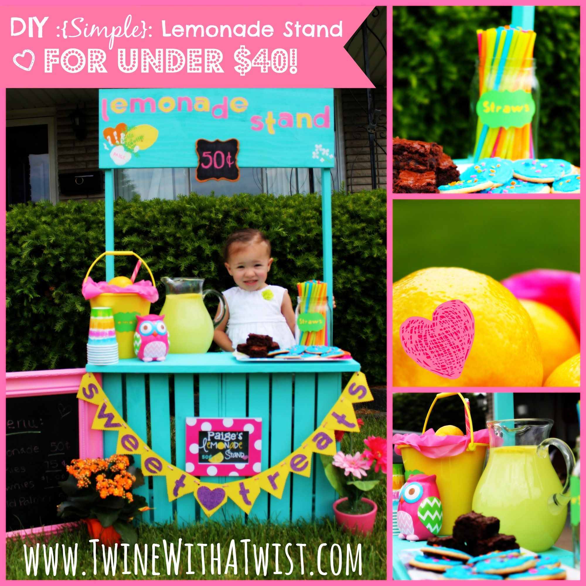 DIY: {Simple} Lemonade Stand under $40 {Guest Post} (Southern Beauty ...