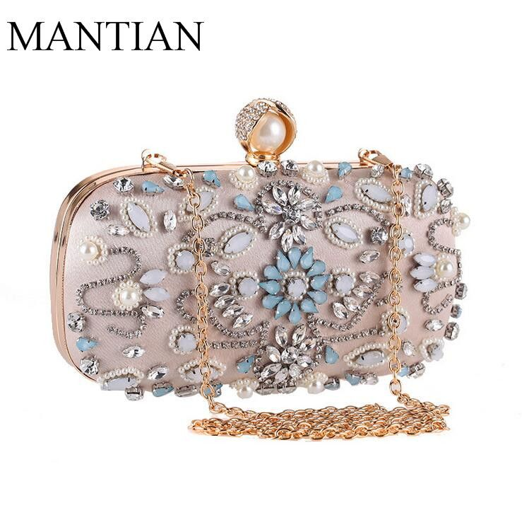 8b2472ac11d Evening bags for women Fashion designer Crystals Beaded day clutch bags new  party crystal handbags clutches