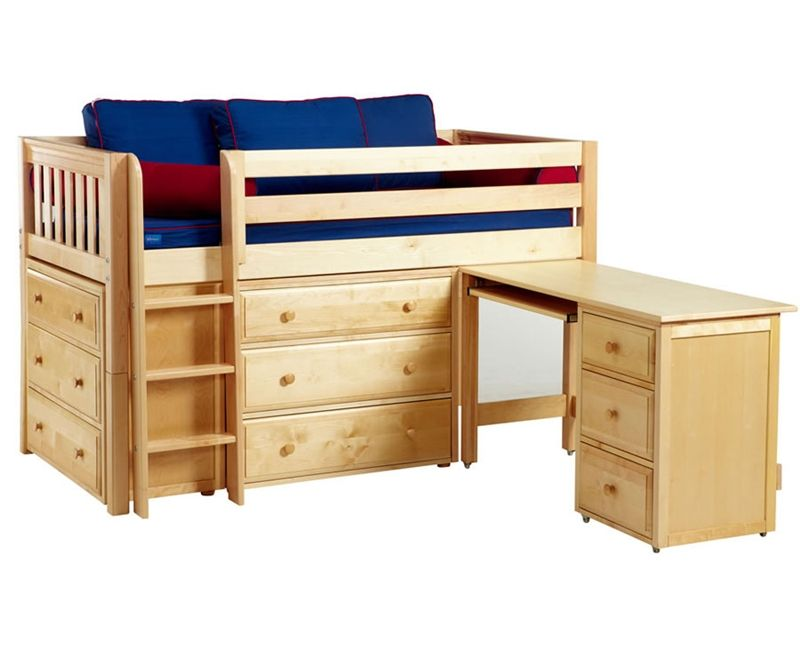Maxtrix Box1 Low Loft Bed With Desk And Dressers Bed Frames