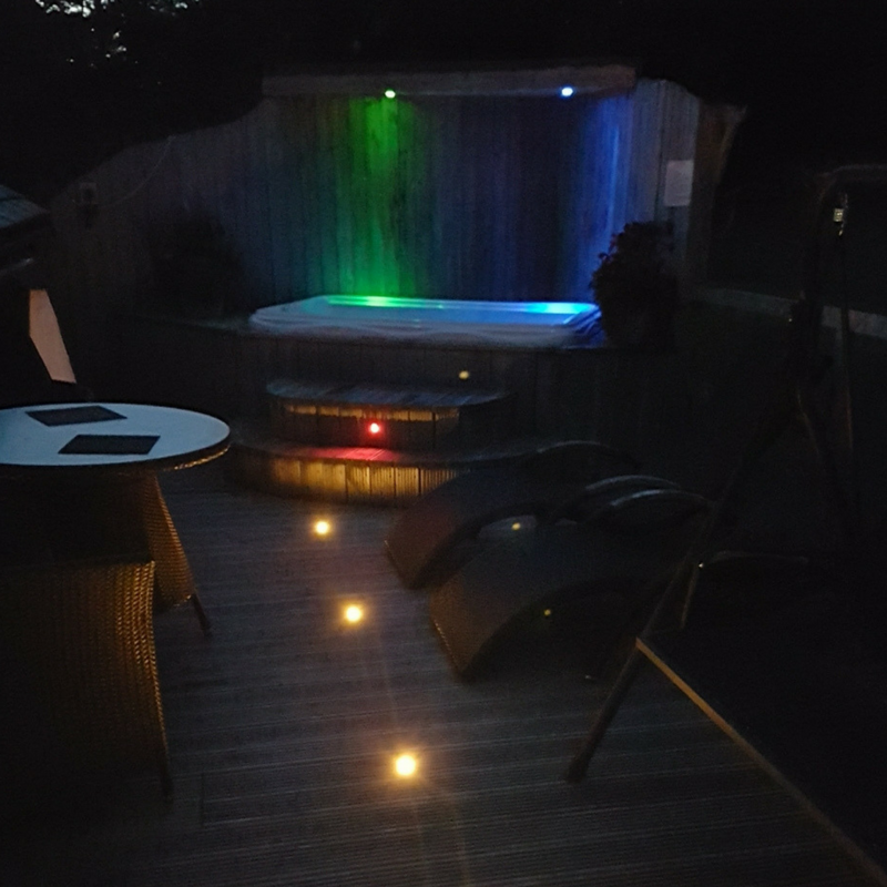 Small gardens can be amazing decking lights can make a huge impact decking lights can make a huge impact for a small mozeypictures Choice Image