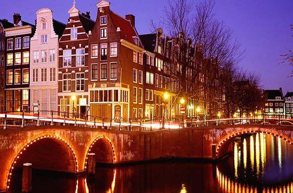 Vista de algunos apartamentos en Amsterdam, centro.