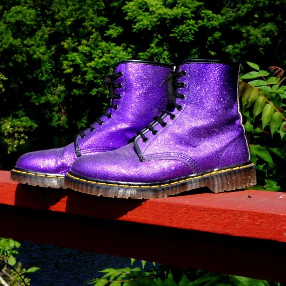 dr martens white purple glitter