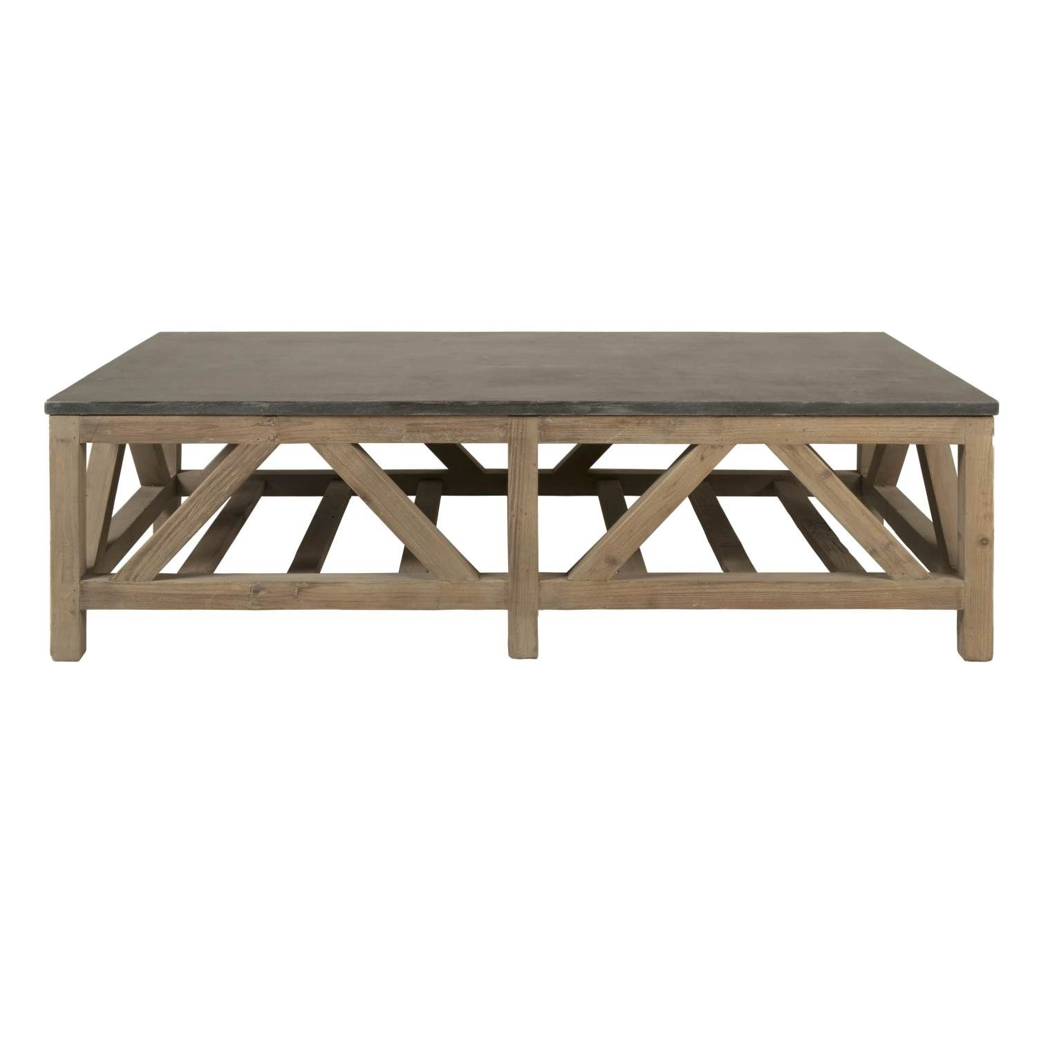 Blue stone coffee table w63 d355 h1775 1269 sale price the blue stone coffee table combines reclaimed pine wood with a rich blue stone table top and smoked gray finish this extra large coffee table will be the geotapseo Image collections