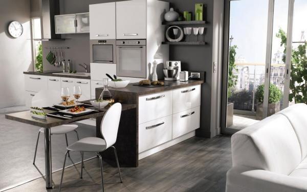 Cuisine Conforama Small bathroom, Architecture design and Salons