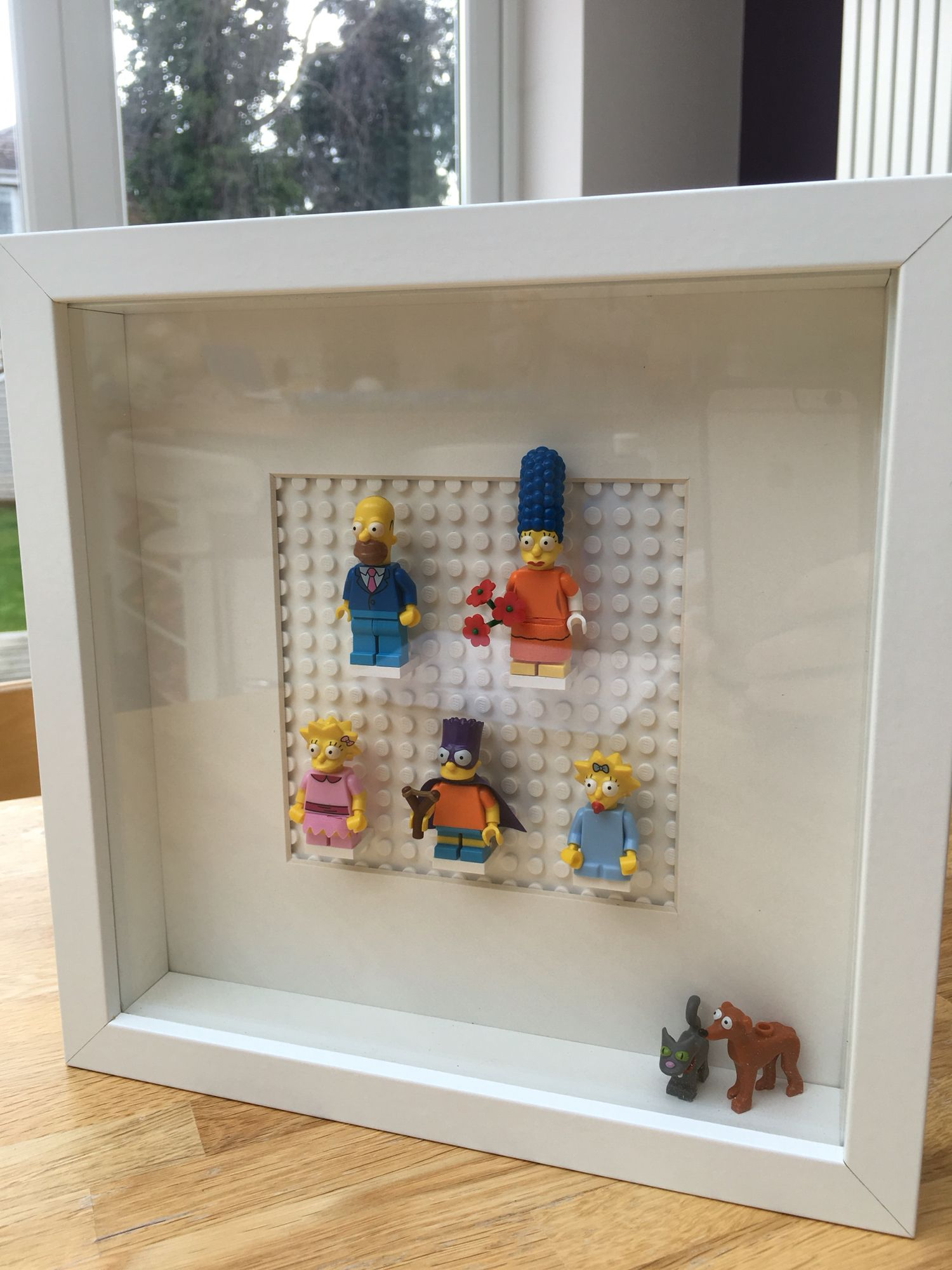Lego The Simpsons wall art made for my brother in laws birthday ...