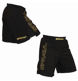 Size 34 Sprawl Shorts V Flex Xt Black With Yellow Sport Outfits Mma Gear Shorts