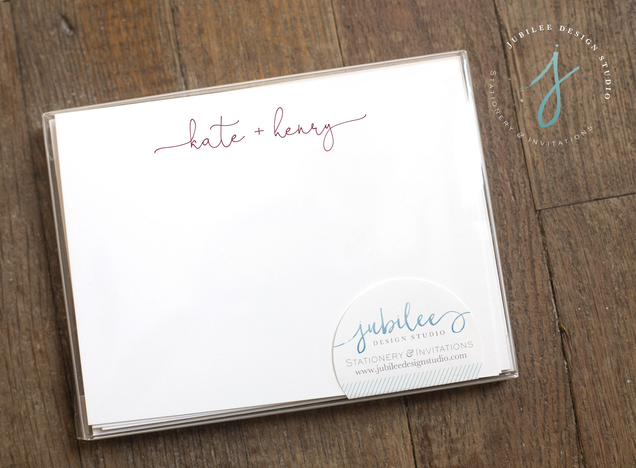 kraft paper notecards perfect from the couple or to them! The Bridal Collection