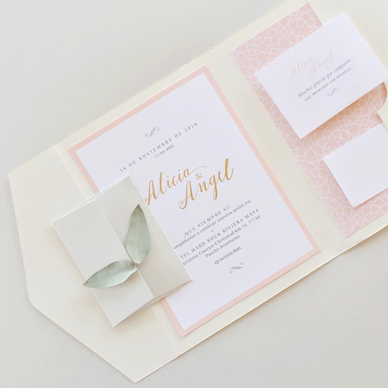 A & A. Wedding invitation. Invitaciones de boda. Papelería social ...