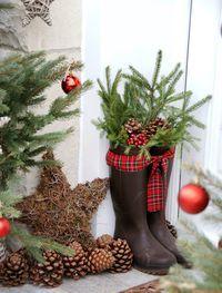 ideen fur weihnachtsdeko vor der haustur frohe weihnachten in europa. Black Bedroom Furniture Sets. Home Design Ideas