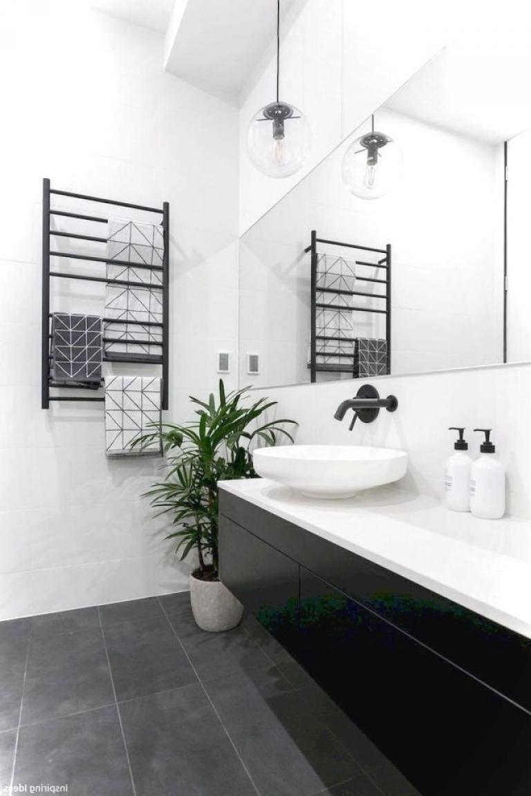 40 Luxury Black And White Bathroom Ideas Black Bathroom Floor Black Tile Bathrooms Black Bathroom