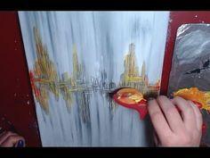 Peinture Abstraite Débutants Acrylique Facile Youtube Flowers