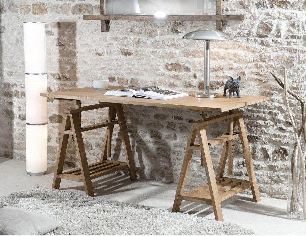 Bureau tréteaux romain pas cher bureau auchan meubles pas cher
