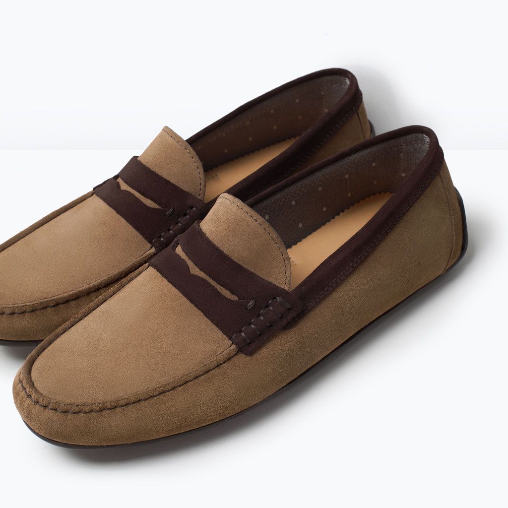 a744b2dd7bb96 LEATHER PENNY LOAFERS | ZARA Mocassim Masculino, Zara Homem, Sapatos Para  Dirigir, Mocassins