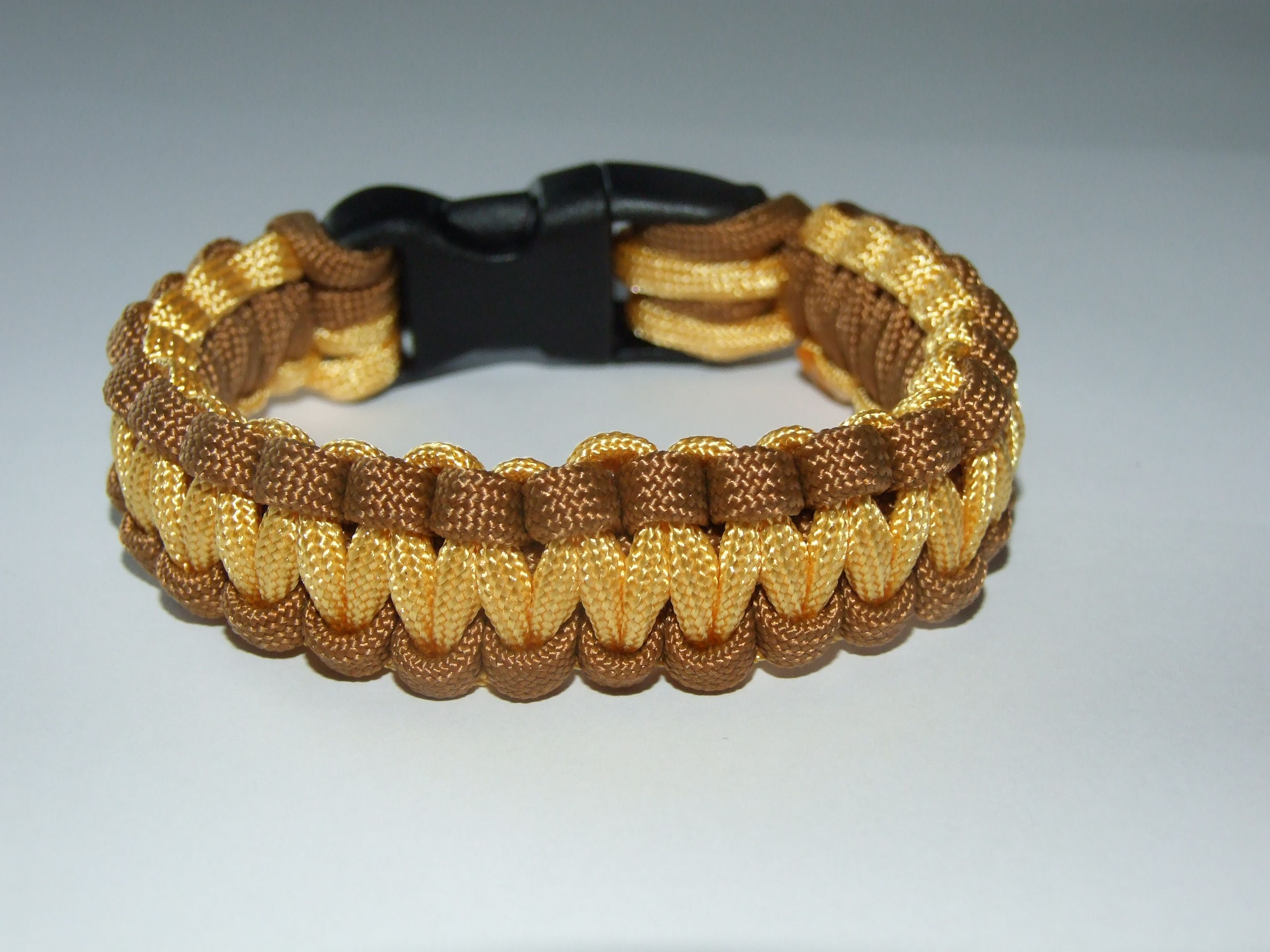 Cobra chocolate and gold paracord bracelet jewellery for sale