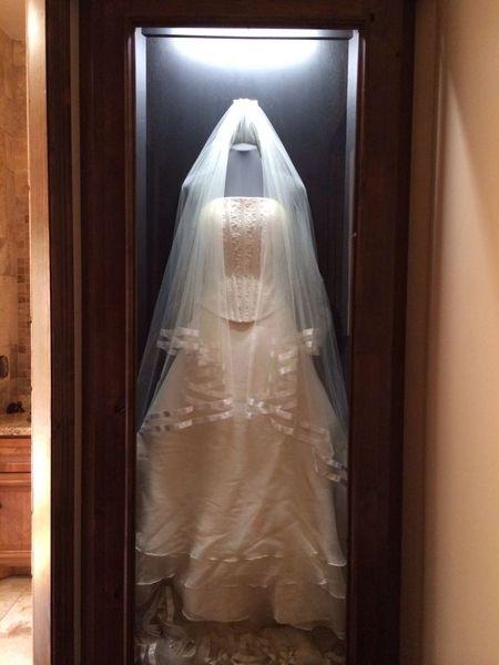 Framed Wedding Dress Wedding Keepsake Wedding dress displays