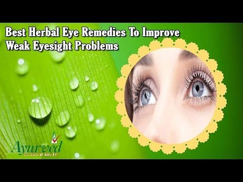 best treatment for weak eyesight