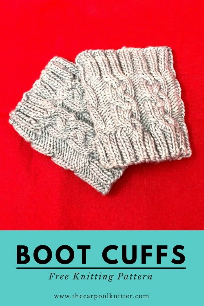 How to make these super easy cable knit boot cuffs! This ...