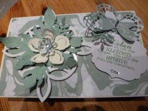 Toffifee Verpackung mit dem Designerpapier Geburtstagsstrauß von Stampin'Up!