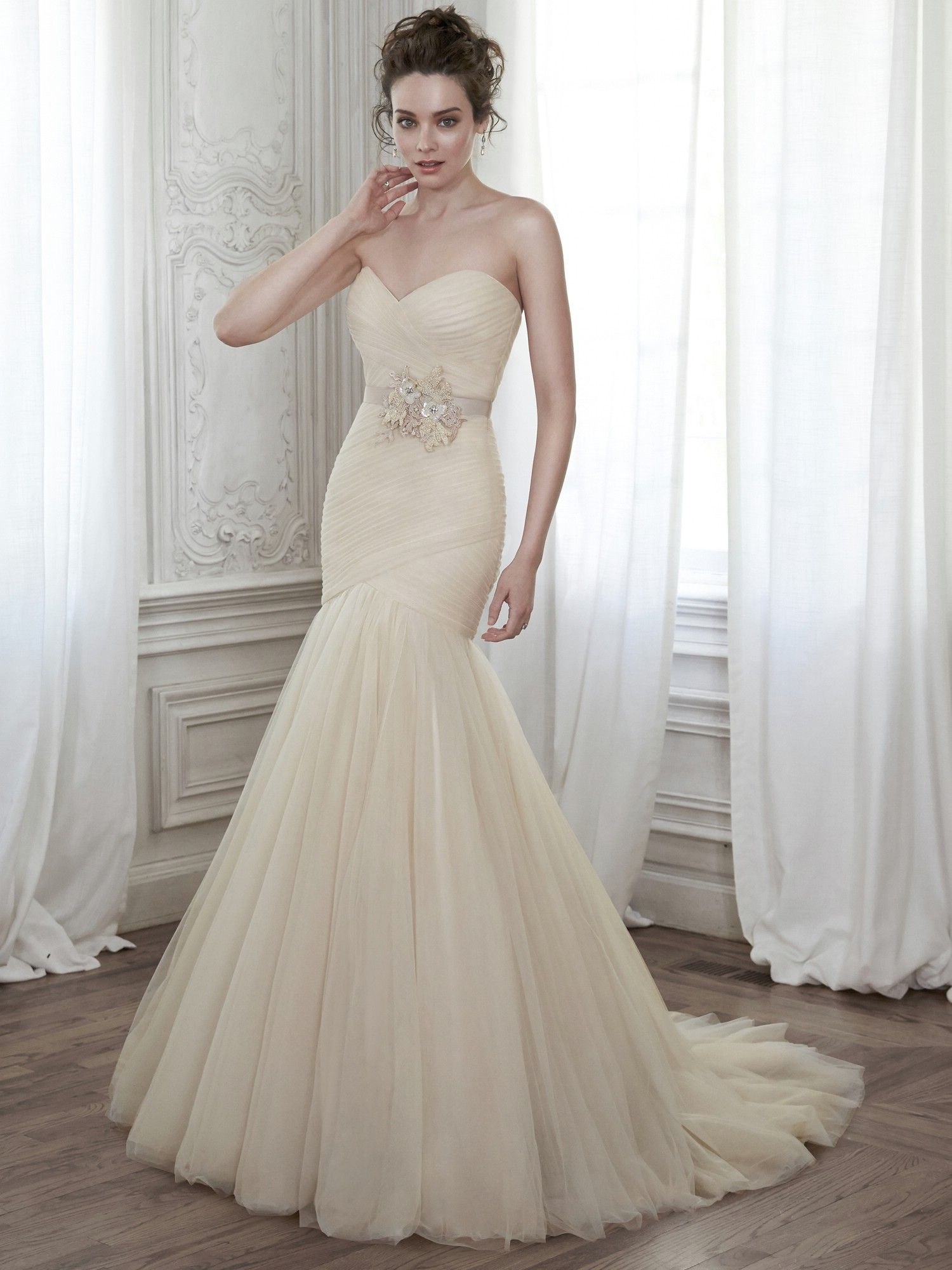 Maggie Sottero Wedding Dresses - Style Lacey with belt | Say yes to ...