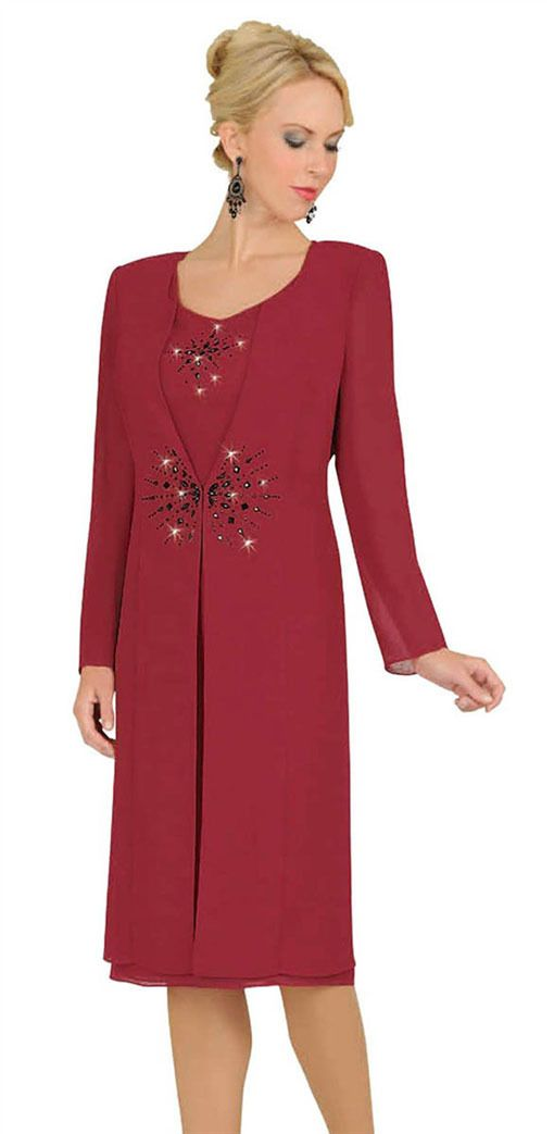 317dfe4907e Misty Lane 13548 Red Mother of the Bride Formal Evening Coat Dress Suit 8  to 26