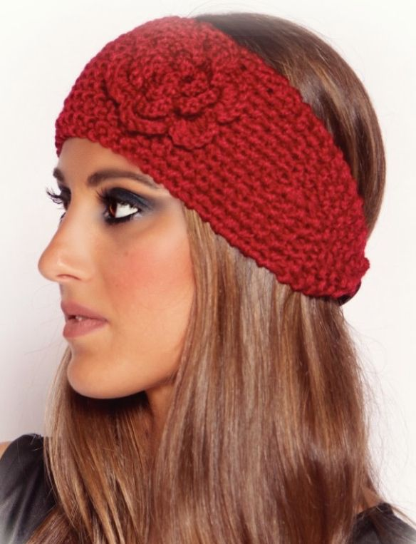 6-Pack Knitted Flower Winter Headband | Knit flowers and Winter