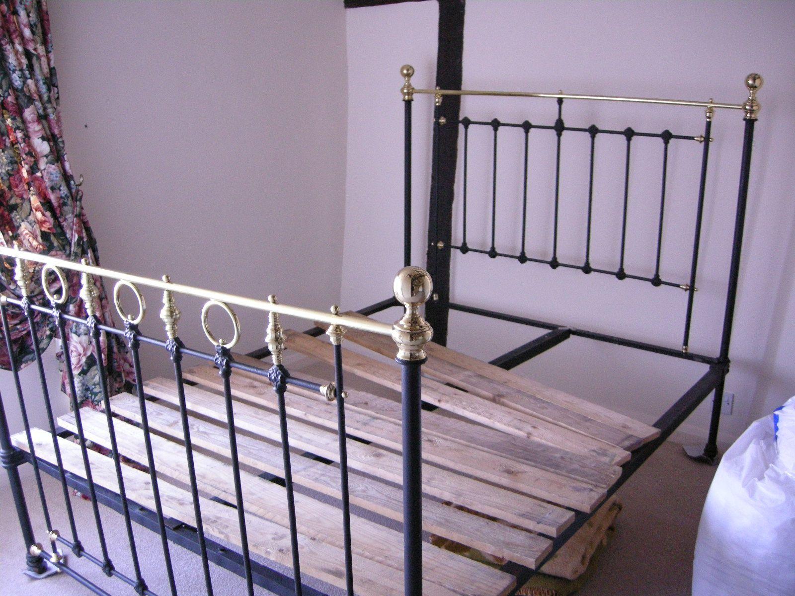 Cast Iron Bed Frame Bedroom: Brass Bed After Restoration